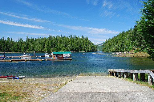 Marina and Boat Launch in Barkley Sound, Pacific Rim, West Coast Vancouver Island, British Columbia