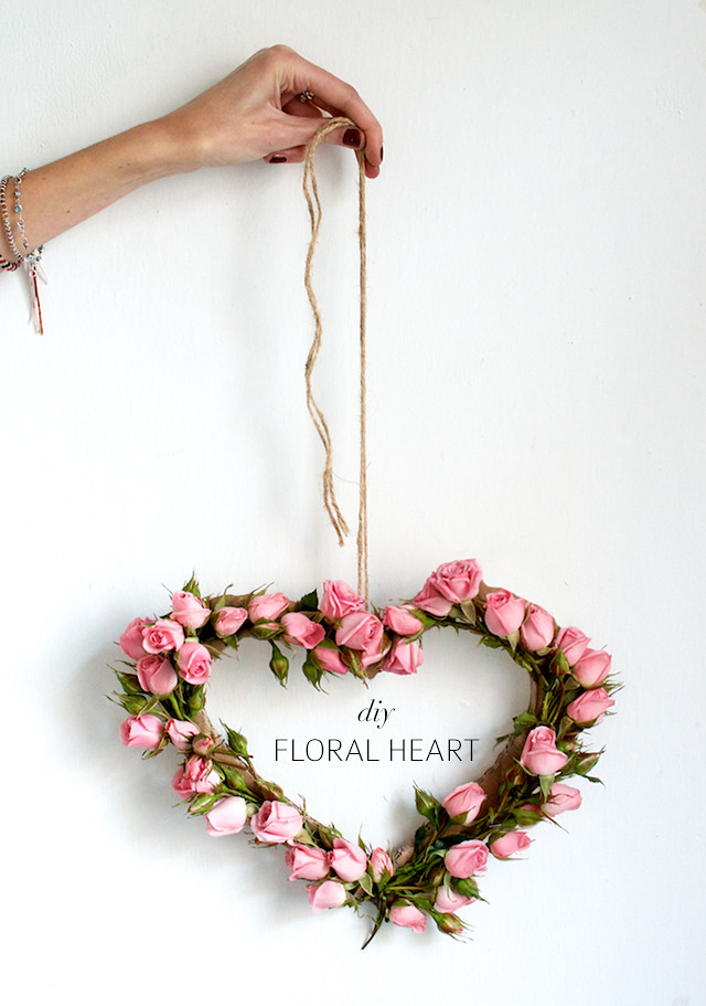 How to make a floral heart by A Pair and A Spare