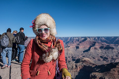 Tess at the Grand Canyon
