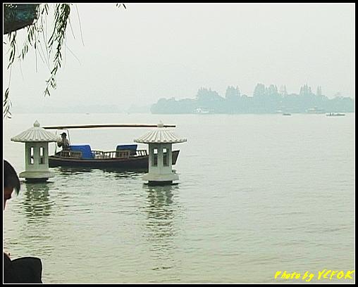 杭州 西湖 (其他景點) - 590 (西湖十景之 柳浪聞鶯 湖面上的石燈籠及背景小瀛洲)