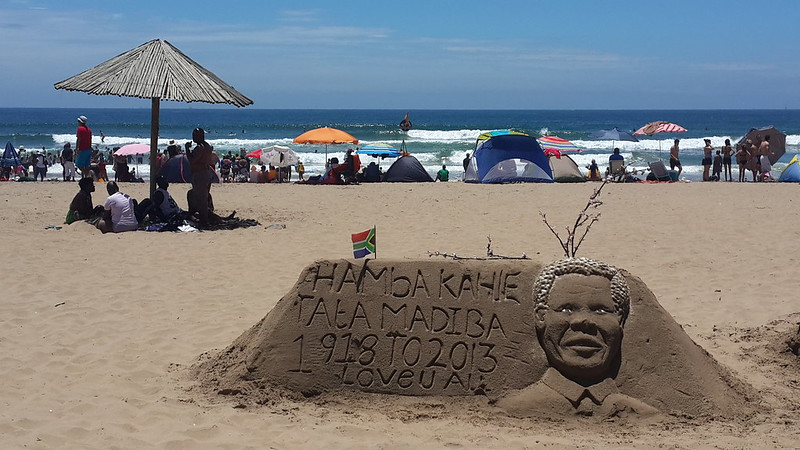 Remembering Mandela at Durban's beach front