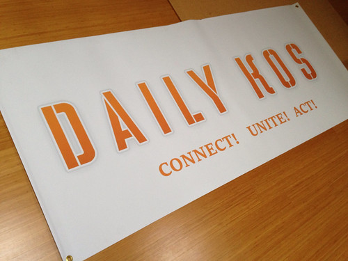 Daily Kos 7ft banner