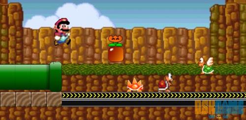 Mega Mario, planta de fuego