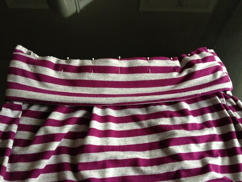 Striped Maxi Skirt - In Progress