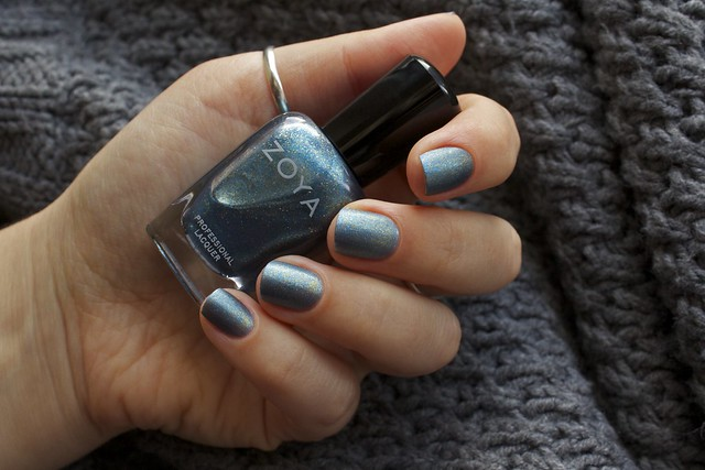 09 Zoya Crystal over Morgan Taylor Mattes A Wrap Top Coat swatches