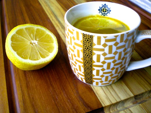 turmeric and lemon infused water