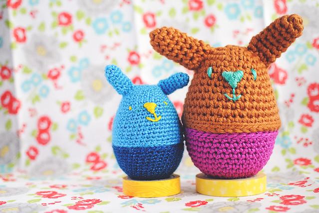 amigurumi bunny eggs