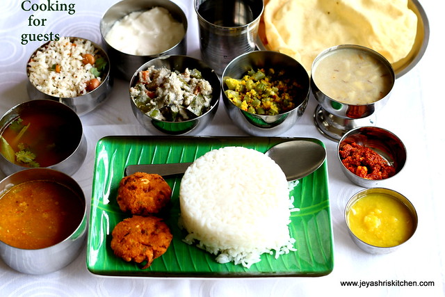 Lunch Menu Jeyashri S Kitchen