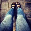 #walking #feet #walkabouting #jeans #blue #thesebootsaremadeforwalking #ecco #sandals #13 #km this time