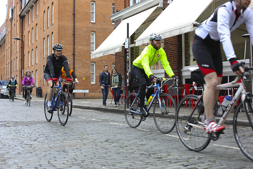 cobble riding at the London Classic 2041