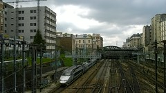 Train tracks north of Gare de l'Est