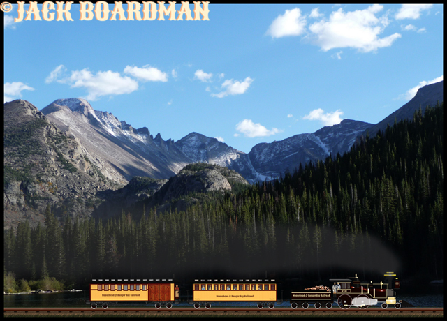 The train slowed to take in the spectacular scenery