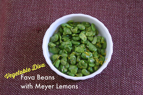 Fava Beans with Meyer Lemon, The Vegetable Diva