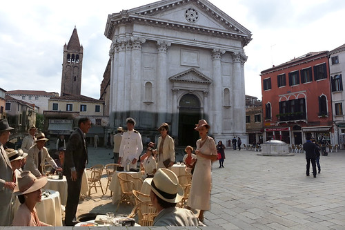 Indiana Jones in Venice then and now