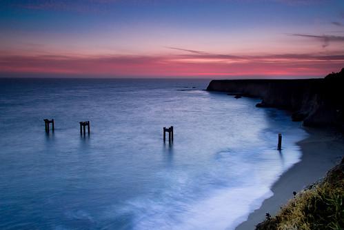 ocean california sunset sun night landscape cloudy vista ndfilter
