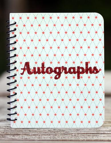 autograph book_blue
