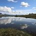 Ramsgjeltinden speiles i Litj-Kvalvatnet, Beiarn by Terje Solbakk
