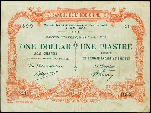 Banque de L'Indo-Chine. 1 Dollar