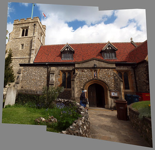 St John the Baptist, Pinner; from Church Lane Panorama
