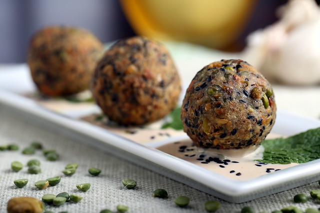 Green Lentil, Pistachio and Walnut Fauxlafel