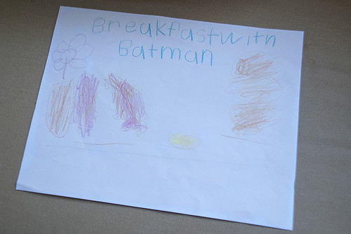 An invitation for breakfast with Batman