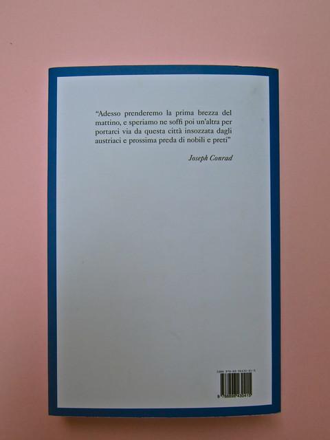 Joseph Conrad, Suspence. il canneto editore 2013. progetto grafico di Paroledavendere, Art Director: Camilla Salvago Raggi. Quarta di copertina (part.), 1