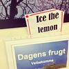 Please remember to ice the lemon (?) #danglish