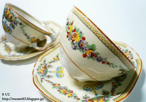 Wedgwood & Co MAYFAIR Tea Cups with Saucers 2