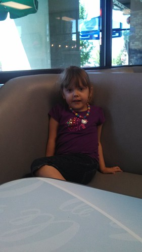 Lily at the frozen yogurt place