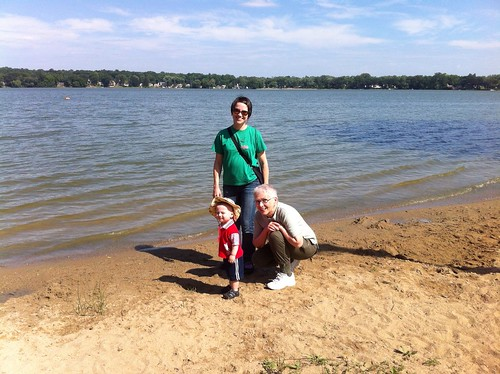 At McCollum Lake with Mom & Grandma C