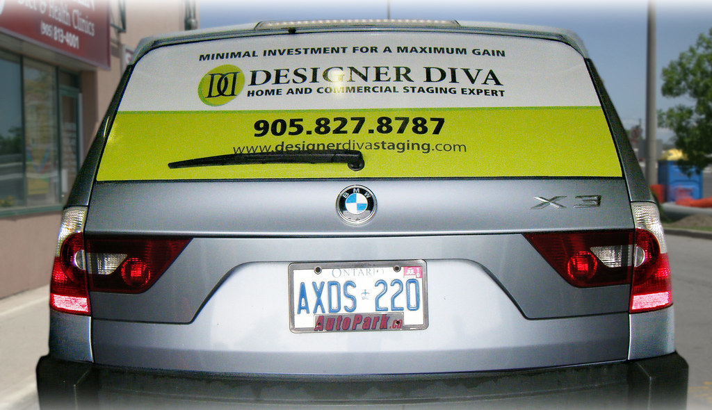 Car Window Graphics Allen Signs Seethrough Window Graphics For