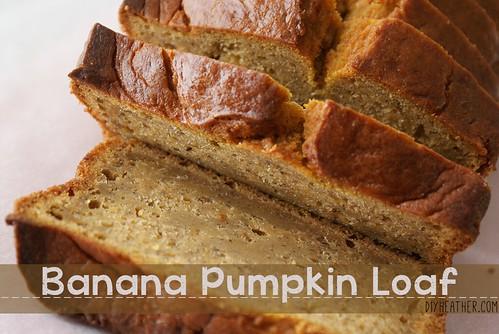Banana Pumpkin Loaf by Heather Says