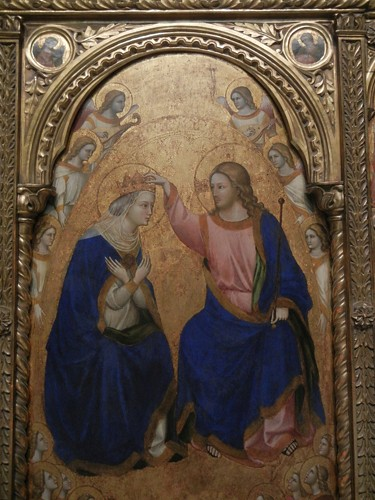 DSCN7712 _ Coronation of the Virgin Altarpiece Coronation of the Virgin, 1344, Guariento di Arpo (c.1310-c.1370), Norton Simon Museum, July 2013