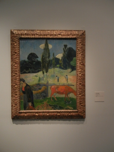 DSCN7947 _ The Red Cow, 1889, Paul Gauguin (1848-1903), LACMA