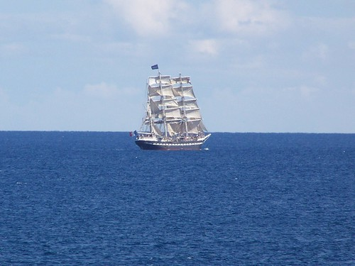 Old ship sailing from Monaco