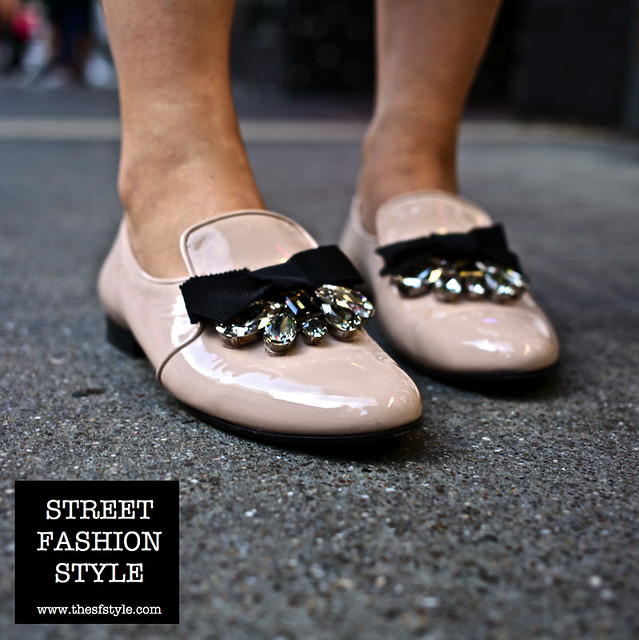 crystal patent leather flats, miu miu flats, streetstyle, street fashion style, san francisco fashion blog,