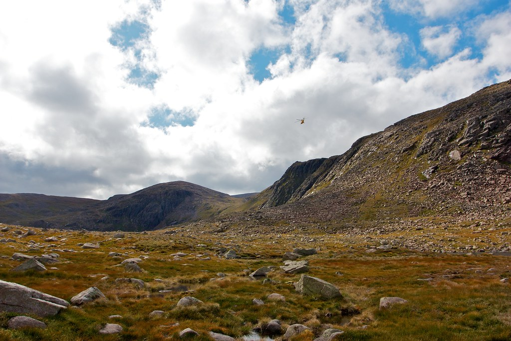 Sea King over Carn Etchachan