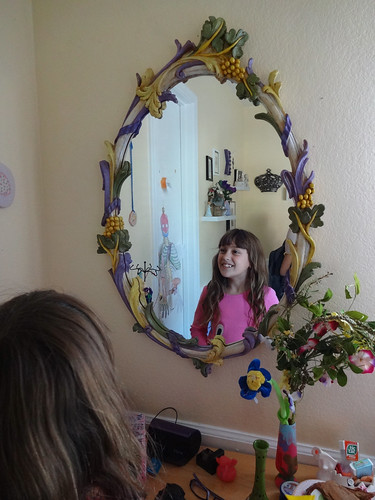 Kimberly and her mirror Grammy painted
