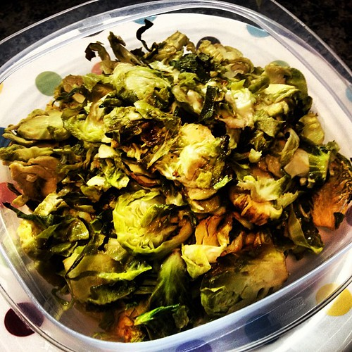Cooking my way through @runnersworldmag cookbook. Maple glazed #brusselssprouts #eating #healthy #healthyeating #veggies #tryit