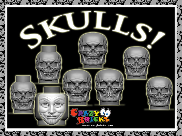 Skulls on Kickstarter!  Each set includes an Anonymous mask!