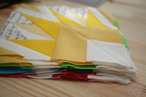Stacks of pieced templates