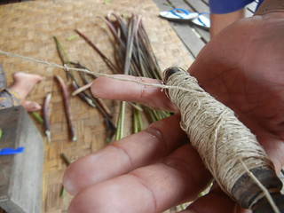 Inle-lotus fibre spool