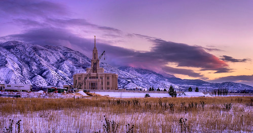 LDS Payson Temple Construction