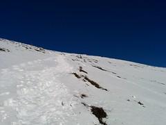 Aufstieg Sambock über steilen Hang