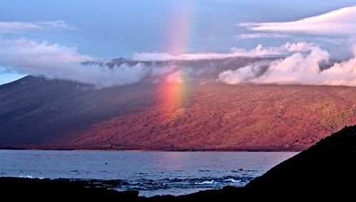 ocean sea sky nature weather clouds landscape nationalpark ecuador rainbow galapagos wildness galapagosislands islalnd fernandinaisland
