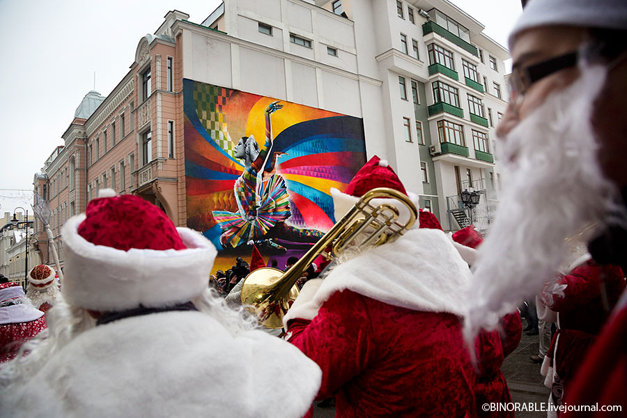 Moscow Christmas parade 2013 ©binorable.livejournal.com