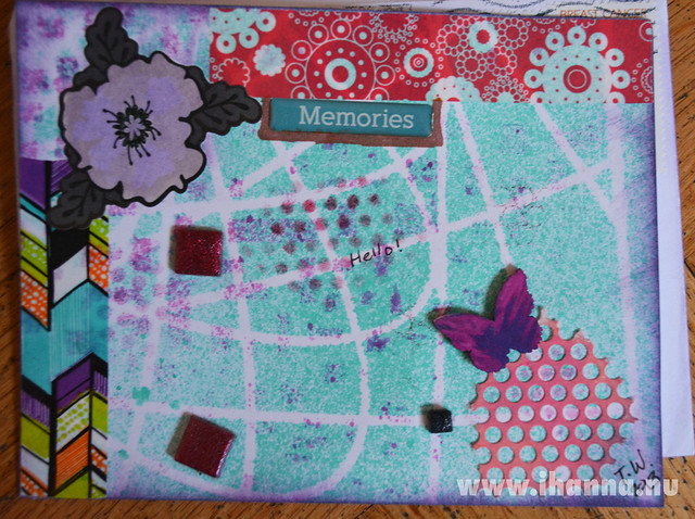 Purple DIY Postcard by Tricia