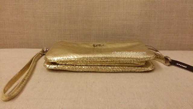 DKNY Wristlet in Gold - Side View