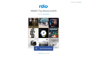 Rdio Top 5 Albums of 2013 Playlist