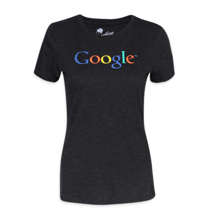 Sportiqe Google Black Ladies T-shirt